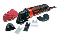 Black & Decker 300W Oscillating Multi Tool with 12 Accessories + Kitbox
